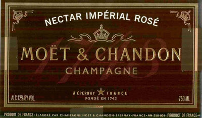 Moet & Chandon Nectar Imperial Rose Champagne 750ml