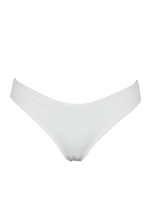 LAURE BOTTOM - White Ribbed