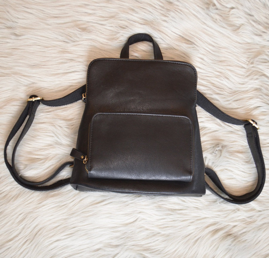 Vegan Leather Backpack