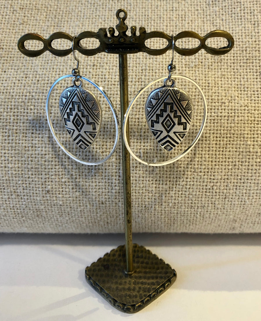 Western Inspired Silver Dangles