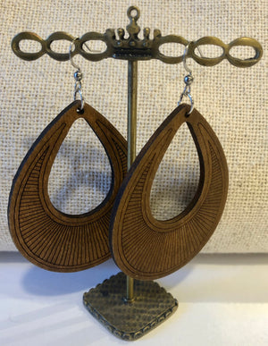 Statement Wood Earrings