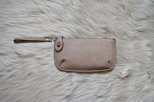 Vegan Leather Wristlet Clutch
