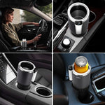 Car cooling&heating cup holder with LED display