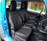 leather seat cover with yellow stitching for jimny
