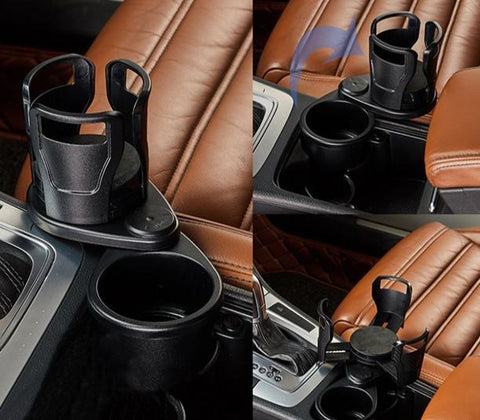 Universal double layer car cup/drink holder