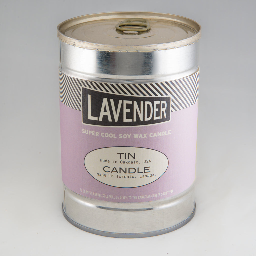 Lavender Canned Candle