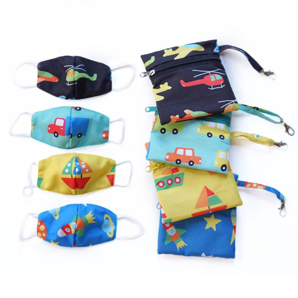 Mamakarti Automobile Mask Pouch Bundle - colorfull