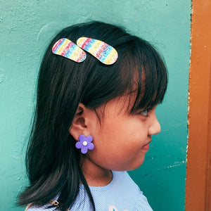 Oopsie Daisy Clip-on Earrings - Colorfull