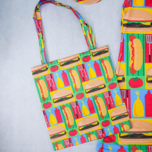 Hotdog Stand Tote Bag - colorfull