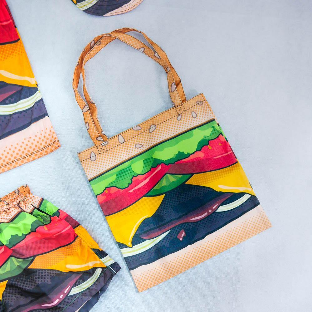 Cheeseburger Tote Bag - Colorfull