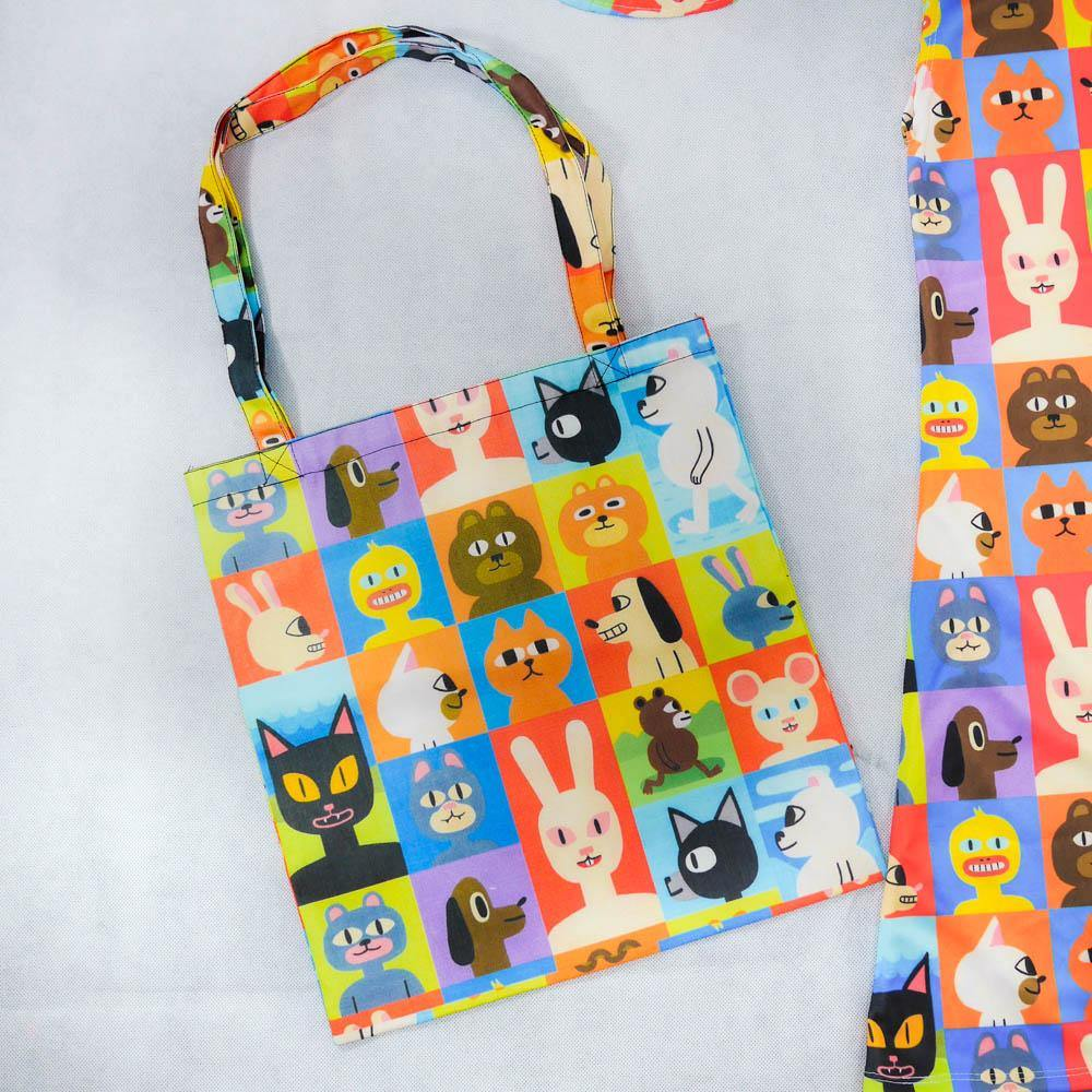 Animal Friends Tote Bag - Colorfull