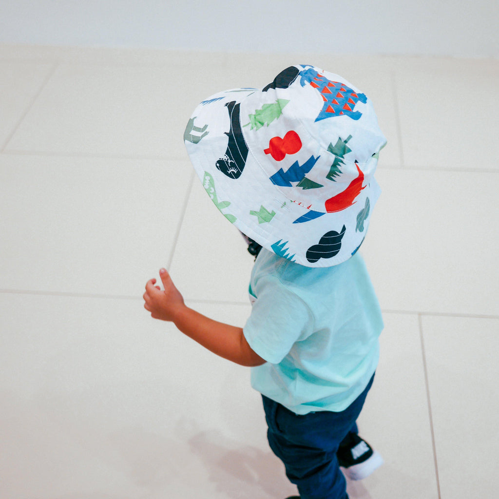 Dinoland Reversible Bucket Hat (2-5 years) - colorfull