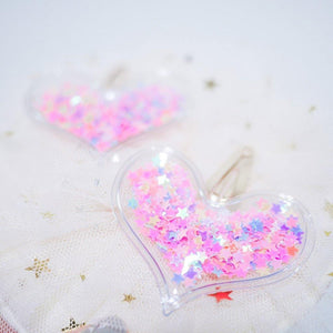 Confetti Heart Hair clips - colorfull