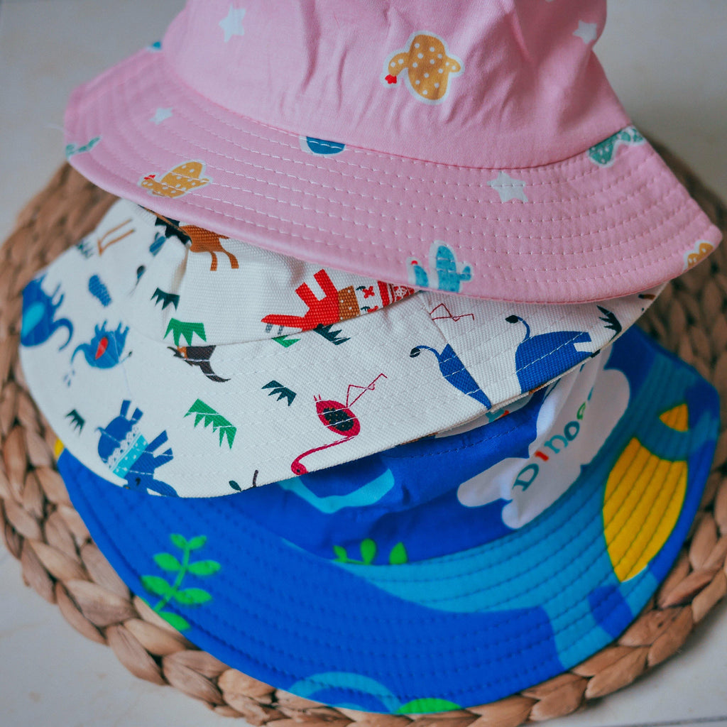Spring Summer Bucket Hats (2-5 years) - colorfull