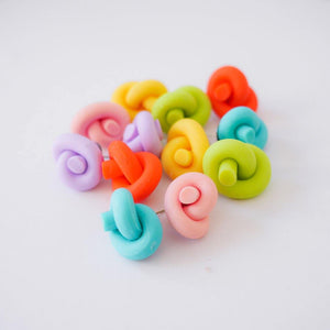 Knot Stud Earrings - Colorfull
