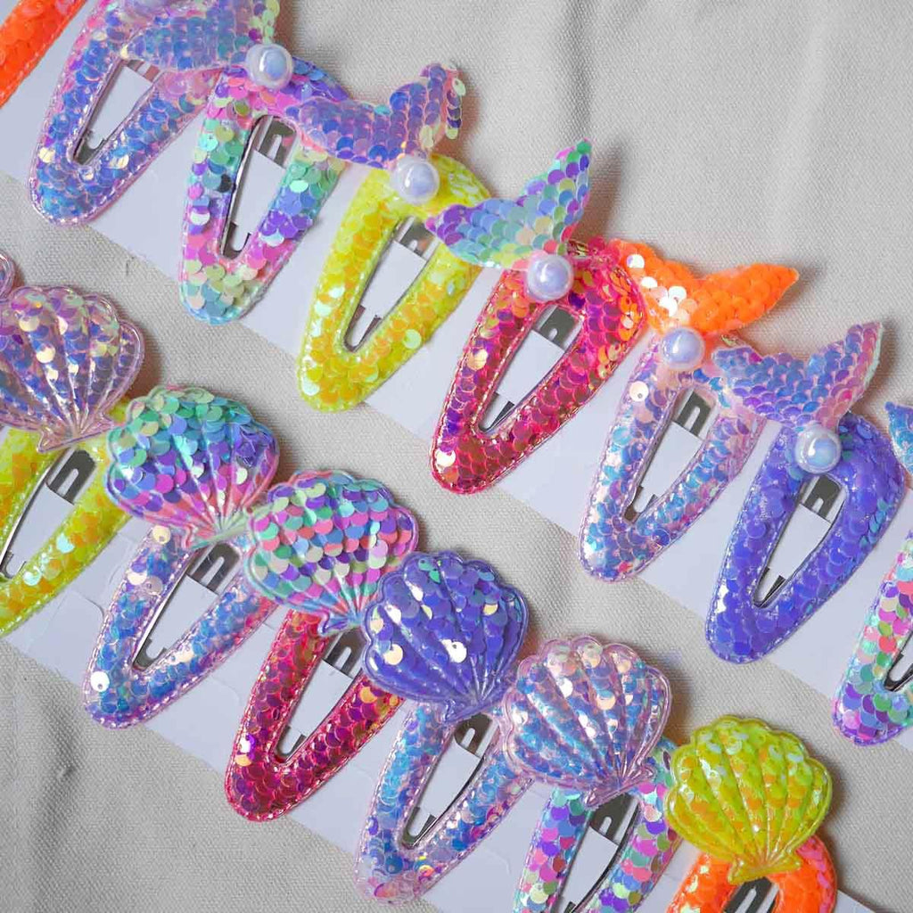 Shimmer Reef Sequin Hair Clips (Bundle) - Colorfull