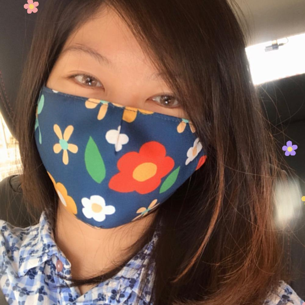 Flora Theme Mask (Kids and Adults) - colorfull
