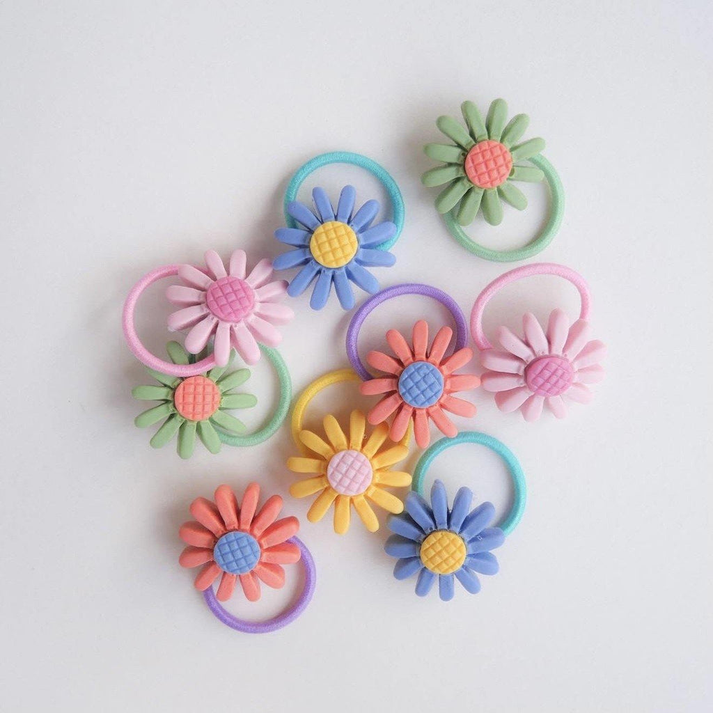 Daisy Hair Tie (Bundle) - Colorfull