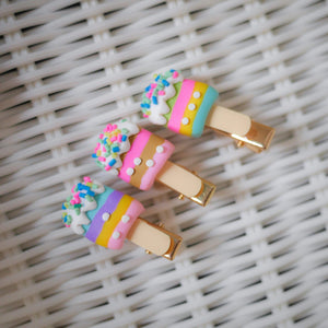 Ice Cream Stick Hair Pins - Colorfull
