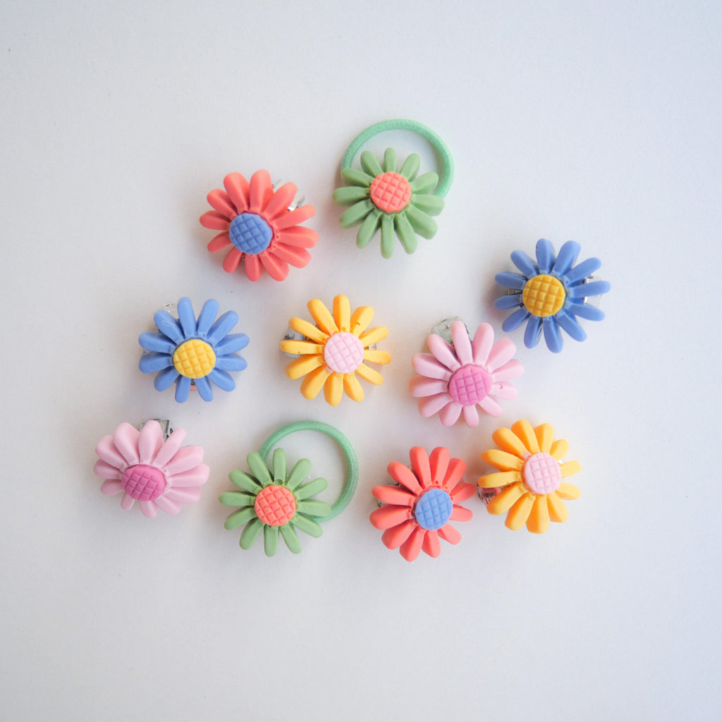 Daisy Clip-on Earrings (Individual) - Colorfull