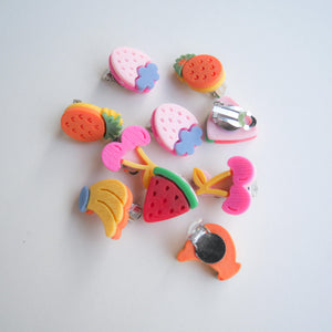 Fruit Pops Clip-on Earrings (Individual) - Colorfull
