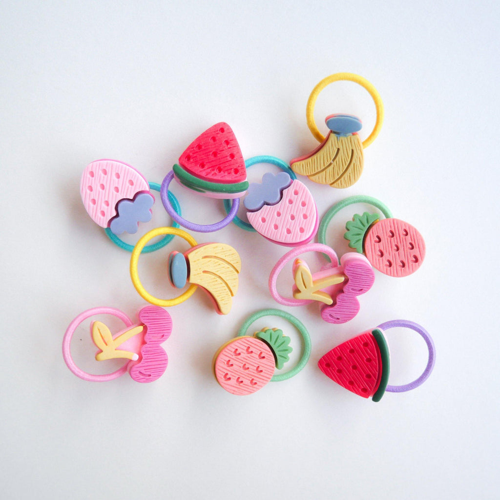 Fruit Pops Hair Tie (Bundle) - Colorfull