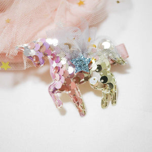 Sequin Unicorn Hair clips - Colorfull