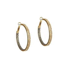 Load image into Gallery viewer, Medium Pave Hoops (click to view more colors)