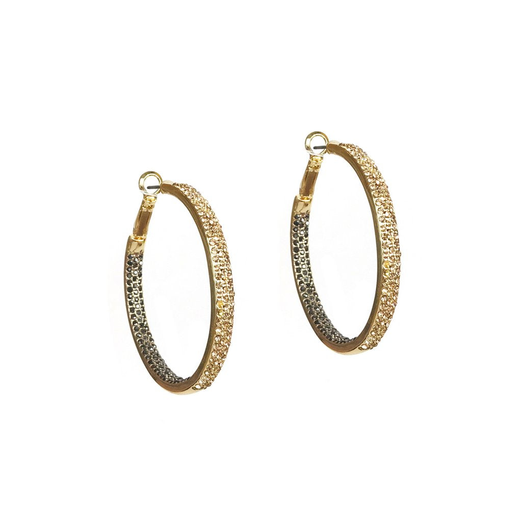 Medium Pave Hoops (click to view more colors)