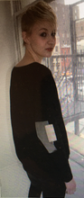 Load image into Gallery viewer, Dolman Metallic Elbow Patch Sweater