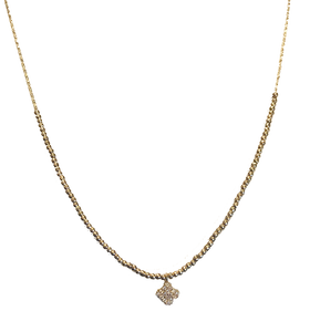 Tiny Clover Gold Necklace