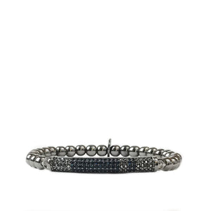 Medium Ball with Pave Band Bracelet (click to view more colors)