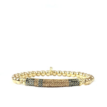 Load image into Gallery viewer, Medium Ball with Pave Band Bracelet (click to view more colors)