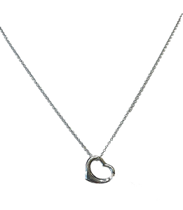 Silver Open Heart Necklace