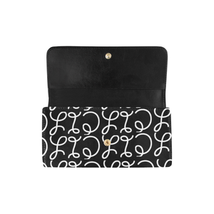 Women's Trifold Scripted Wallet