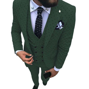 Mens Wave Point Three Pieces Suit