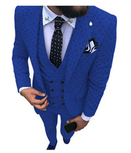 Load image into Gallery viewer, Mens Wave Point Three Pieces Suit