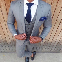 Load image into Gallery viewer, Latest Coat Pant Design Light Grey Suit Slim Fit Skinny 3 Piece