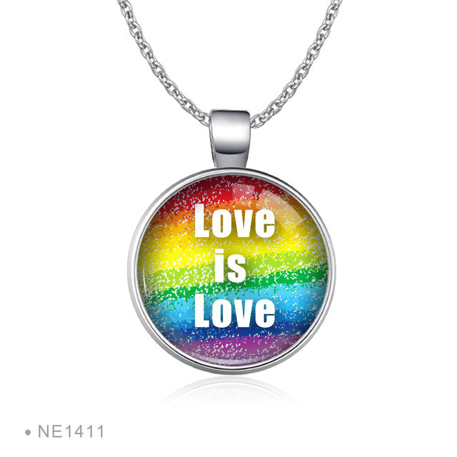Rainbow Infinity Love Wins Necklaces