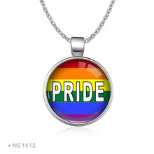 Load image into Gallery viewer, Rainbow Infinity Love Wins Necklaces