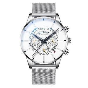 Stainless Steel Calendar Quartz Wristwatch