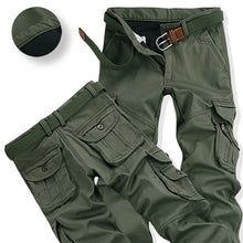 Load image into Gallery viewer, Mens Winter Pants Thick Warm Cargo Pants