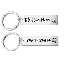 Load image into Gallery viewer, Black Lives Matter Keychain Jewelry