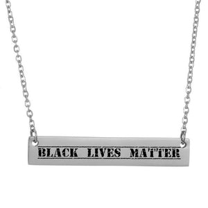 Black Lives Matter Necklace Custom Necklaces
