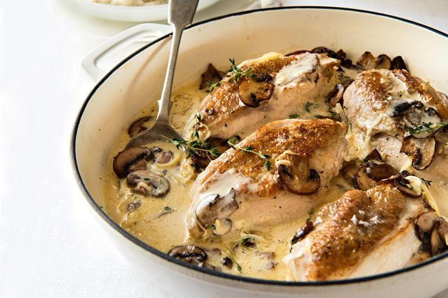 Chicken by delica direct melbourne with cream sauce and mushrooms
