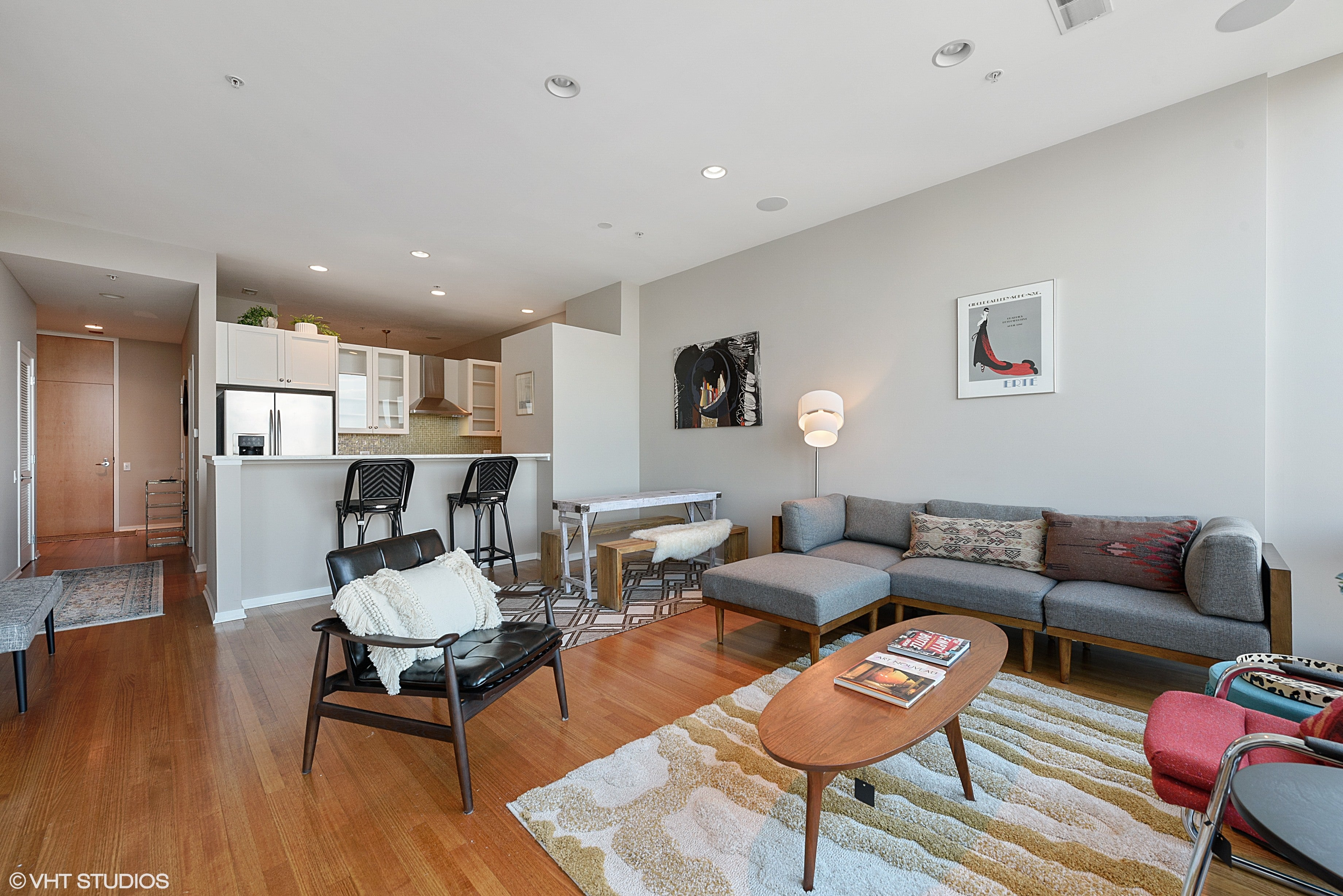 Eskell stages River North Chicago apartments and more luxury homes for sale.
