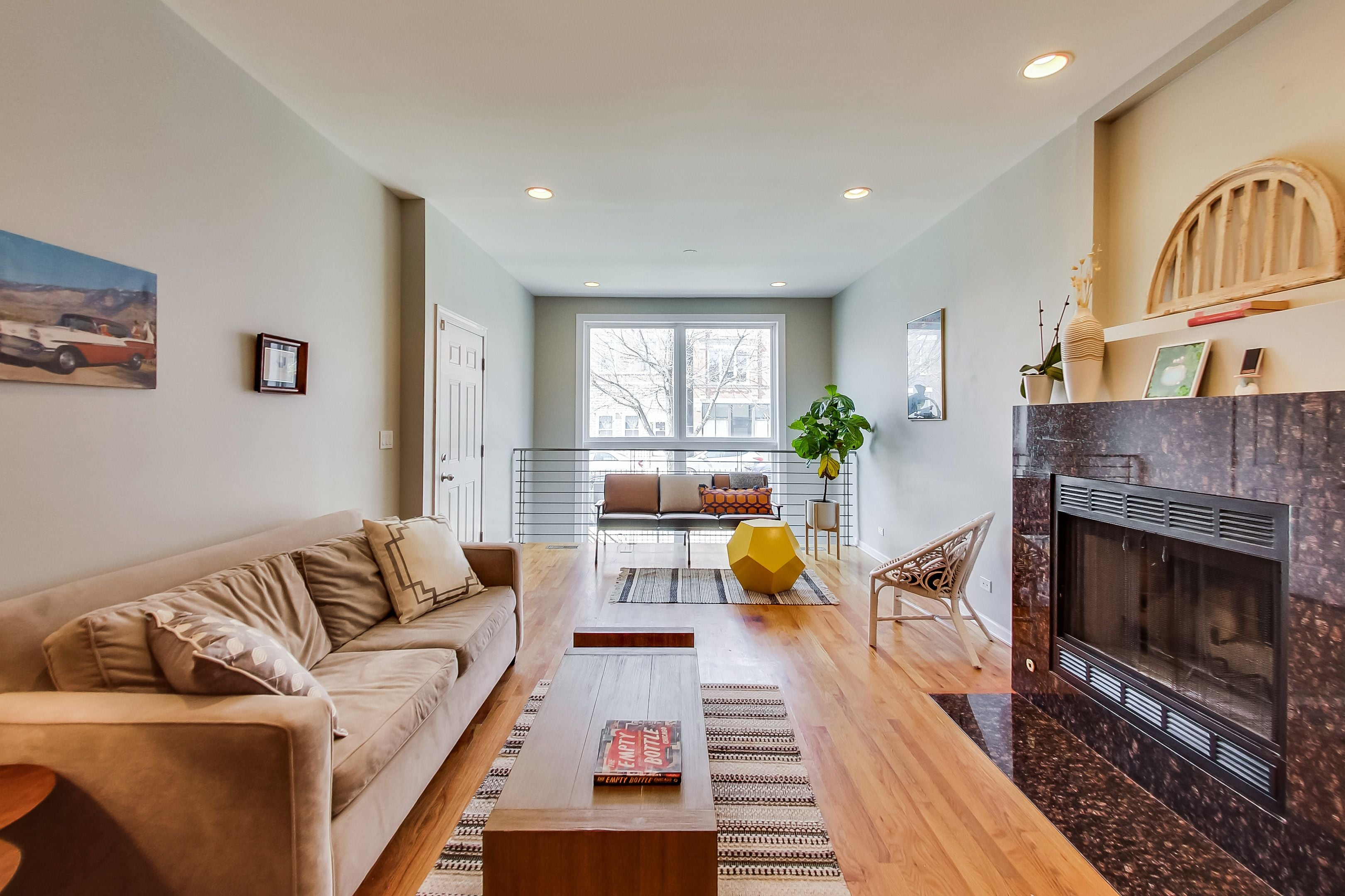 Eskell stages family condos for sale like this West Town starter home.