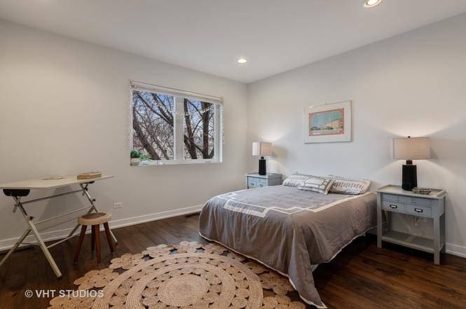 This modern home for sale near the 606 Chicago was staged with cool contemporary finds.
