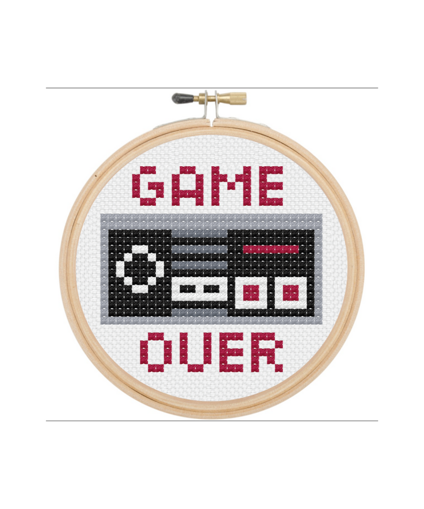 Game Over Cross Stitch Kit - Eskell