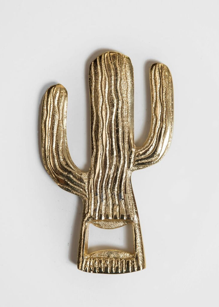 Gold Cactus Bottle Opener
